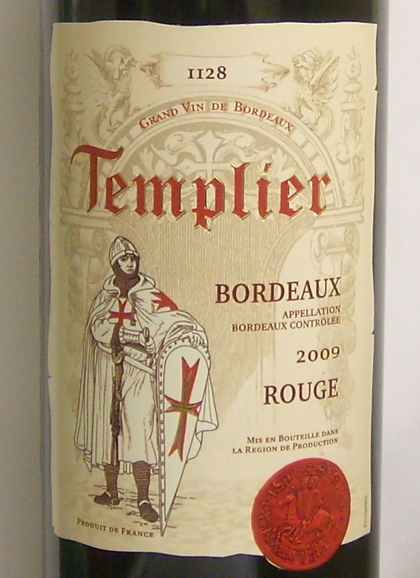 «Bordeaux Rouge Templier 2009».JPG